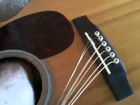 how to change acoustic guitar strings youtube. Black Bedroom Furniture Sets. Home Design Ideas