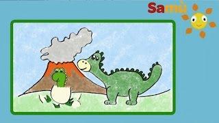 HOW TO DRAW A DINOSAUR SIMPLE KIDS DRAWING - Learning for children, kids, babies