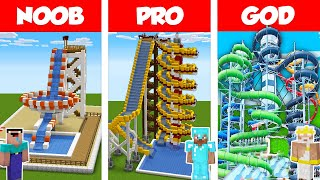 Minecraft NOOB vs PRO vs HACKER: WATERPARK CHALLENGE in Minecraft / Animation