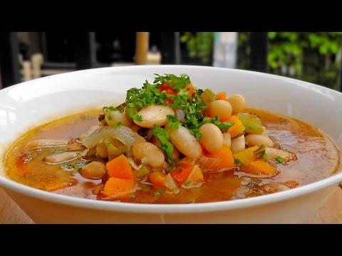 Greek White Bean Soup - Fasolada Recipe - Vegan Vegetarian