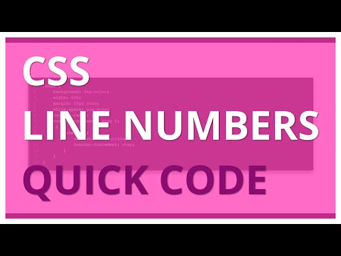 Quick Code - CSS Line Numbers