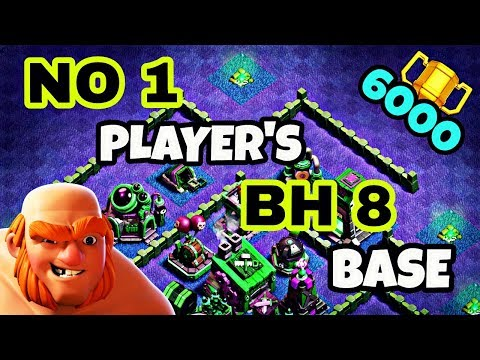 BEST BUILDER HALL 8 BASE LAYOUT WITH REPLAY   TOP BH8 TROPHY BASE DESIGN IN COC   CLASH OF CLANS