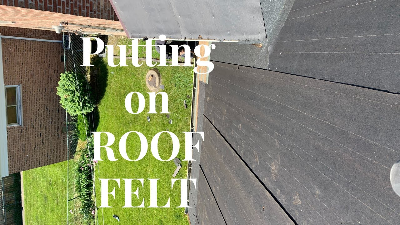 How to put on roof felt.
