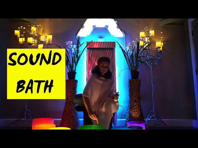 Sound Bath with classical music and rhythmic lights - D. Krystal Starr