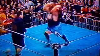 Balls Mahoney hits Joel Gertner with chair