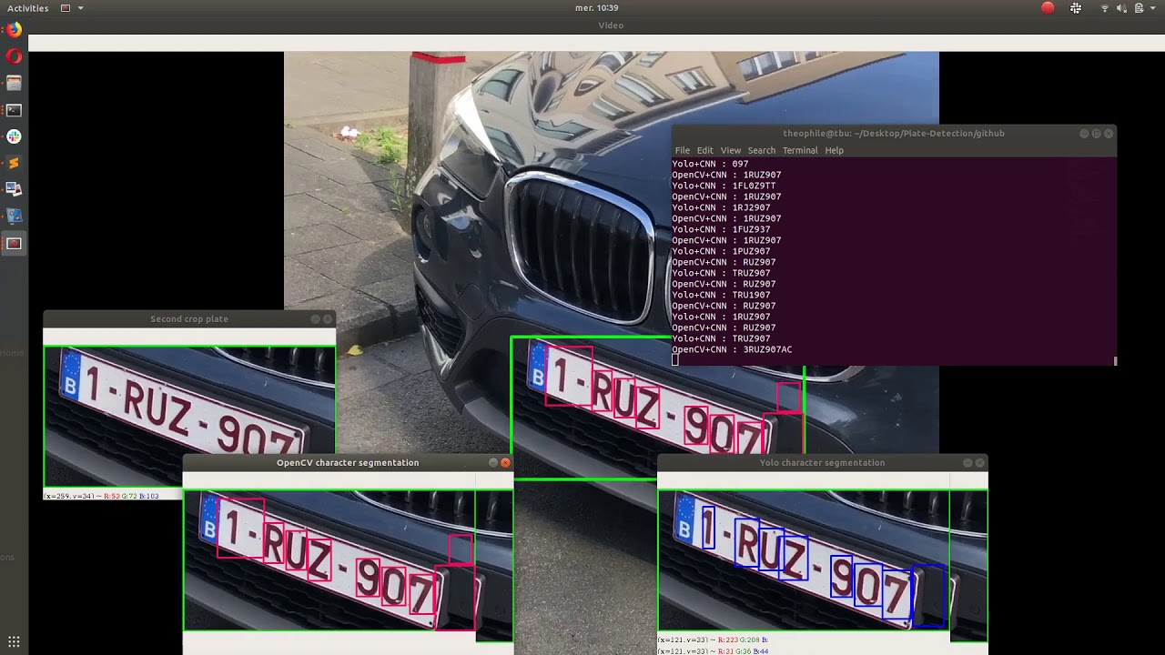 License Plate Recognition using OpenCV, YOLO and Keras