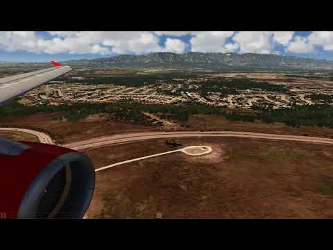 Landing at Colorado Springs Airbus A320 ++ Aerofly FS 2