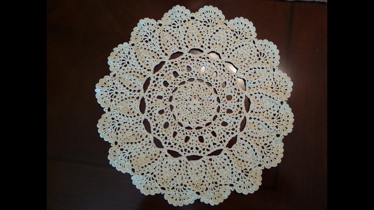 Crochet Doily - Mantilla Doily Part 1 - YouTube