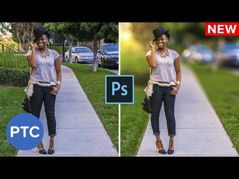 How To Blur A Background In Photoshop - EASY Shallow Depth Of Field Effect