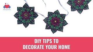 How To Make Paper Danglers   Home Decor   Paper Crafts   DIY   Momspresso
