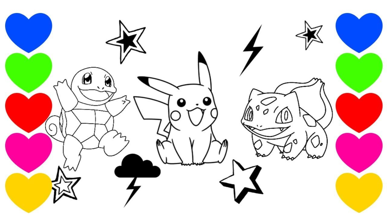 Pintar Desenho Do Pikachu Desenho Pokemon Em Portugues Youtube