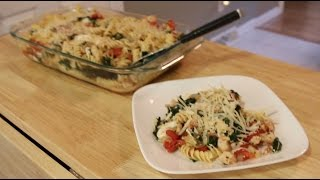 BAKED ROTELLE PASTA W/ KALE, GRILLED CHICKEN & FRESH MOZZARELLA CHEESE!!- C-n-G