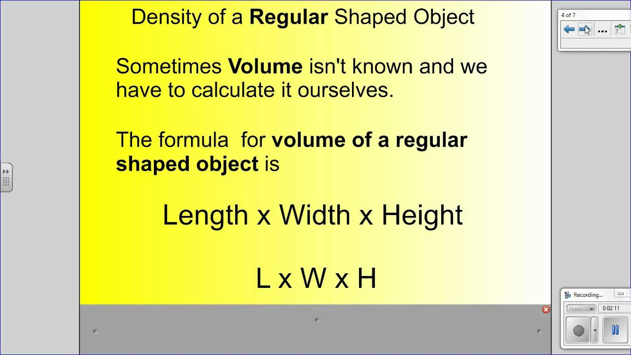Learn How To Calculate Density Of A Regular Shaped Object