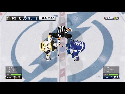 NHL 18 - Tampa Bay Lightning vs Boston Bruins - Gameplay (HD) [1080p60FPS]