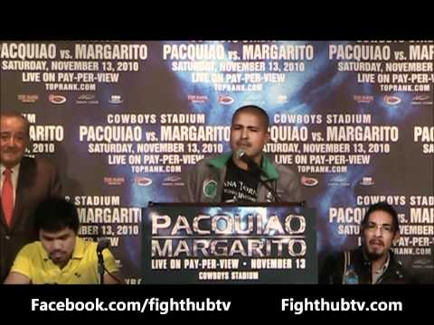 Manny Pacquiao vs. Antonio Margarito Press Conference Highlights