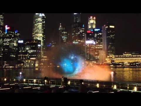 Light Show Marina Bay Waterfront Singapore
