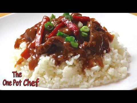 Slow Cooked Mongolian Beef | One Pot Chef