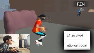 X1 COM UM STREMER DE 8 ANOS DO PC FRACO AO VIVO!