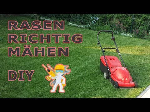 rasen richtig m hen anleitung f r den garten new hd youtube. Black Bedroom Furniture Sets. Home Design Ideas