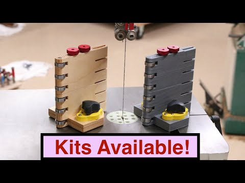 Build or 3D Print a Bandsaw Featherboard and Roller Guide
