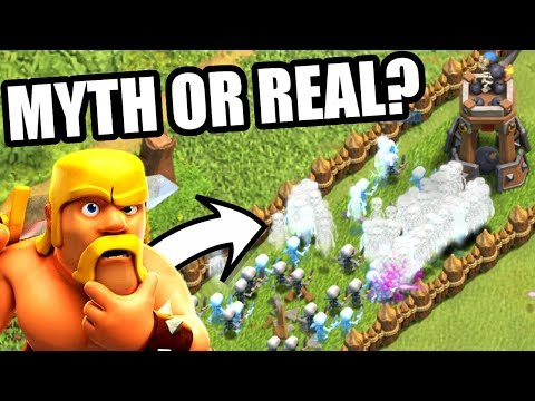 MYTH BUSTER!! - Clash Of Clans - WHAT HAPPENS WHEN YOU CLONE HUNDREDS OF SKELETONS!?