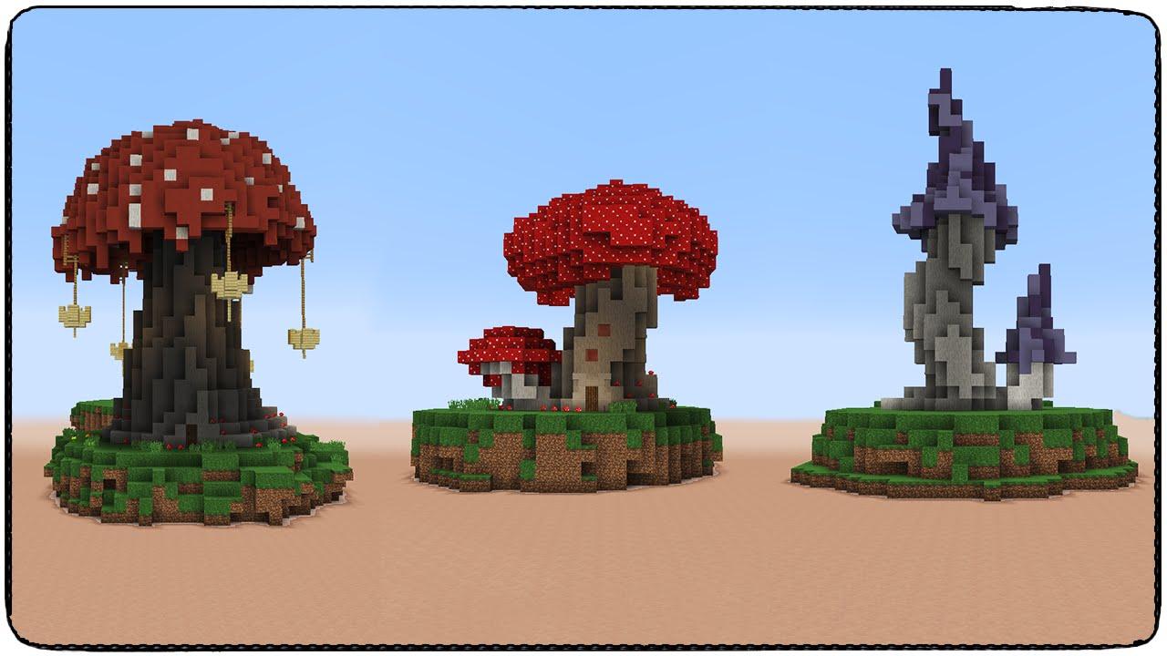 грибы в майнкрафте