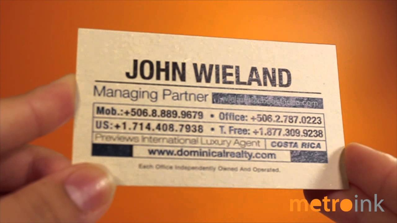 Metroink 20pt Vanilla Pulp Business Card (recycled material!) - YouTube