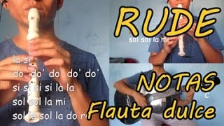 RUDE - Magic - Notas de FLAUTA dulce