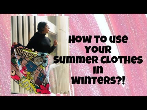 [VIDEO] - How to ReUse your Summer Clothes in Winters? Winter Outfit Ideas! Winter Look Book   Ekanshi Garera 8