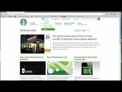 How to Register a Starbucks Card