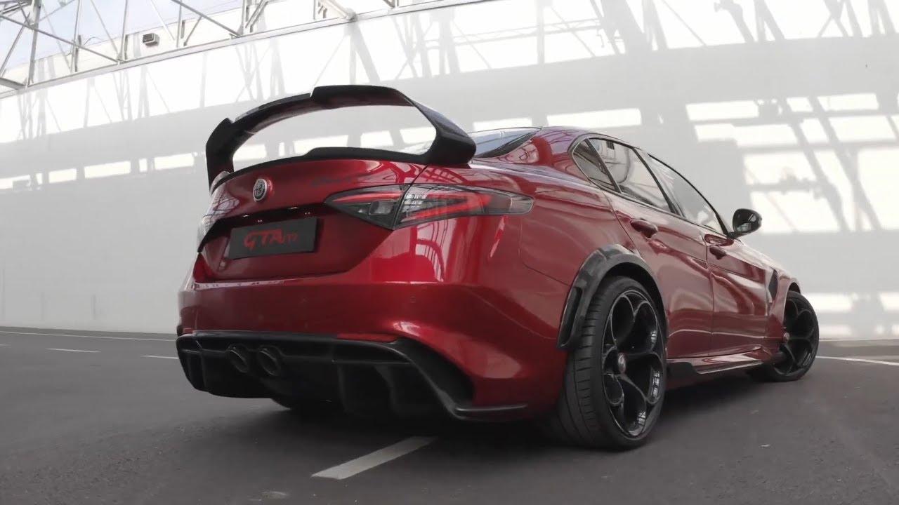FIRST LOOK: New Alfa Romeo Giulia GTAm - YouTube