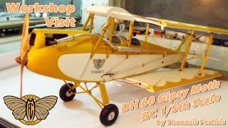 CVP - Workshop Visit - RC 1/5th Scale DH 60 Gipsy Moth by Thanasis Ferfiris