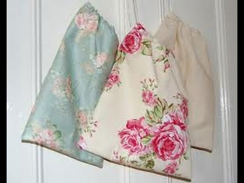 Easy DIY Drawstring Bags - YouTube