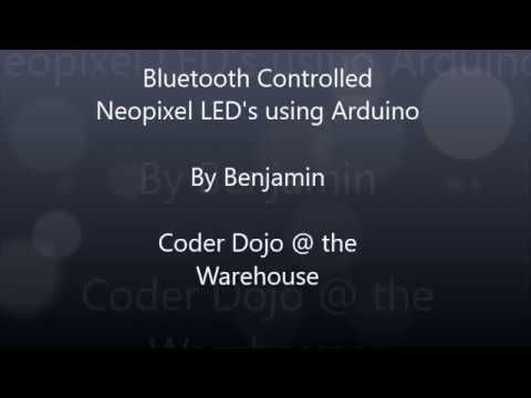 CodeMaker Buddy - Projects - Bluetooth Controlled NeoPixel LEDs