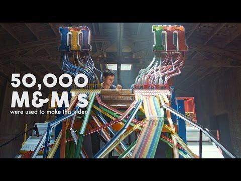 """CANDYMAN"" played w/ 50,000 M&M'S! - Zedd & Aloe Blacc"