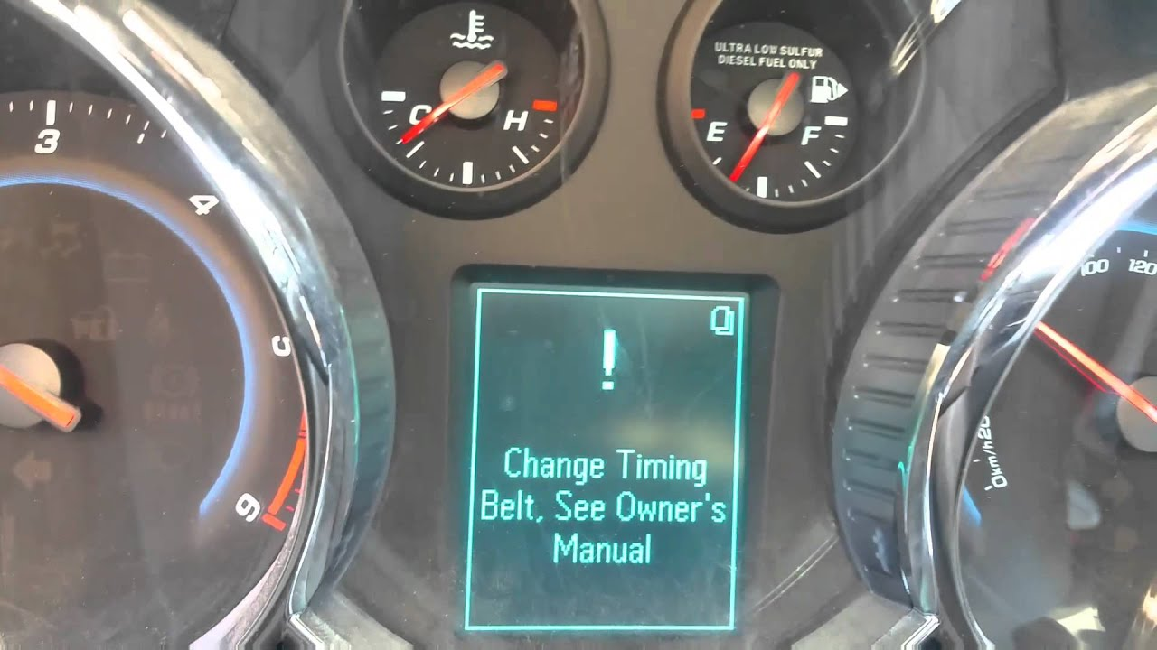 Holden cruze diesel timing belt replacement