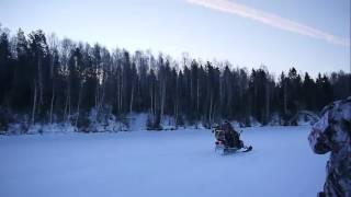 Зимняя рыбалка   По реке на мопедах  Снегоход Рыбинка Сить