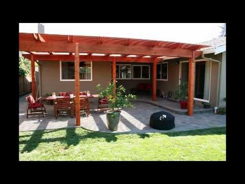 Building a Back Yard Patio with Pergola - YouTube on House Backyard Deck id=25363