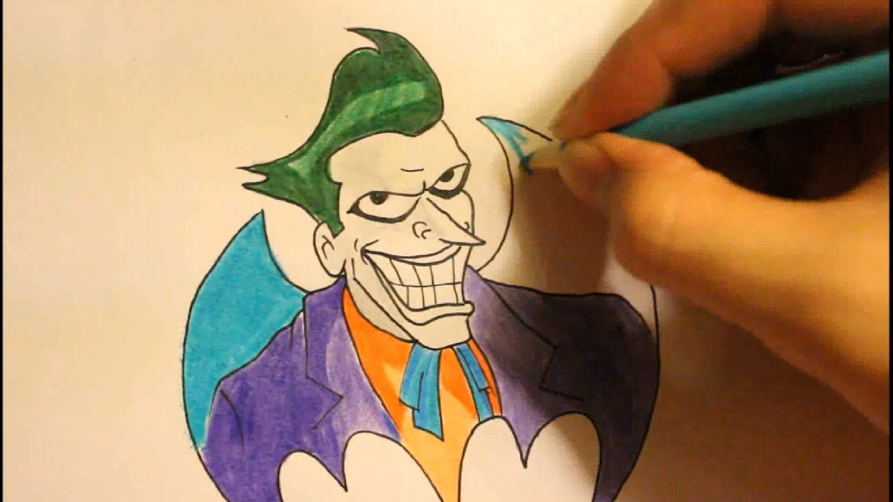 How To Draw Jokerstep By Stepfacearkham Cityfrom The Dark Knighteasy