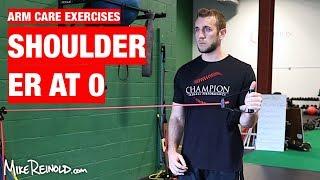 Shoulder Tubing ER at 0 Degrees Exercise - Arm Care Shoulder Program