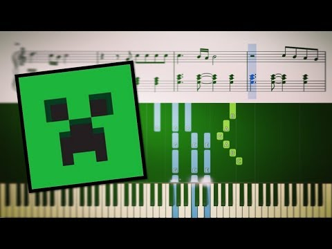 Sweden - Minecraft Volume Alpha -  Song Piano Tutorial + SHEETS