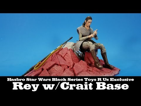 Star Wars Black Series Rey Jedi Training Crait The Last Jedi Toys R Us Hasbro