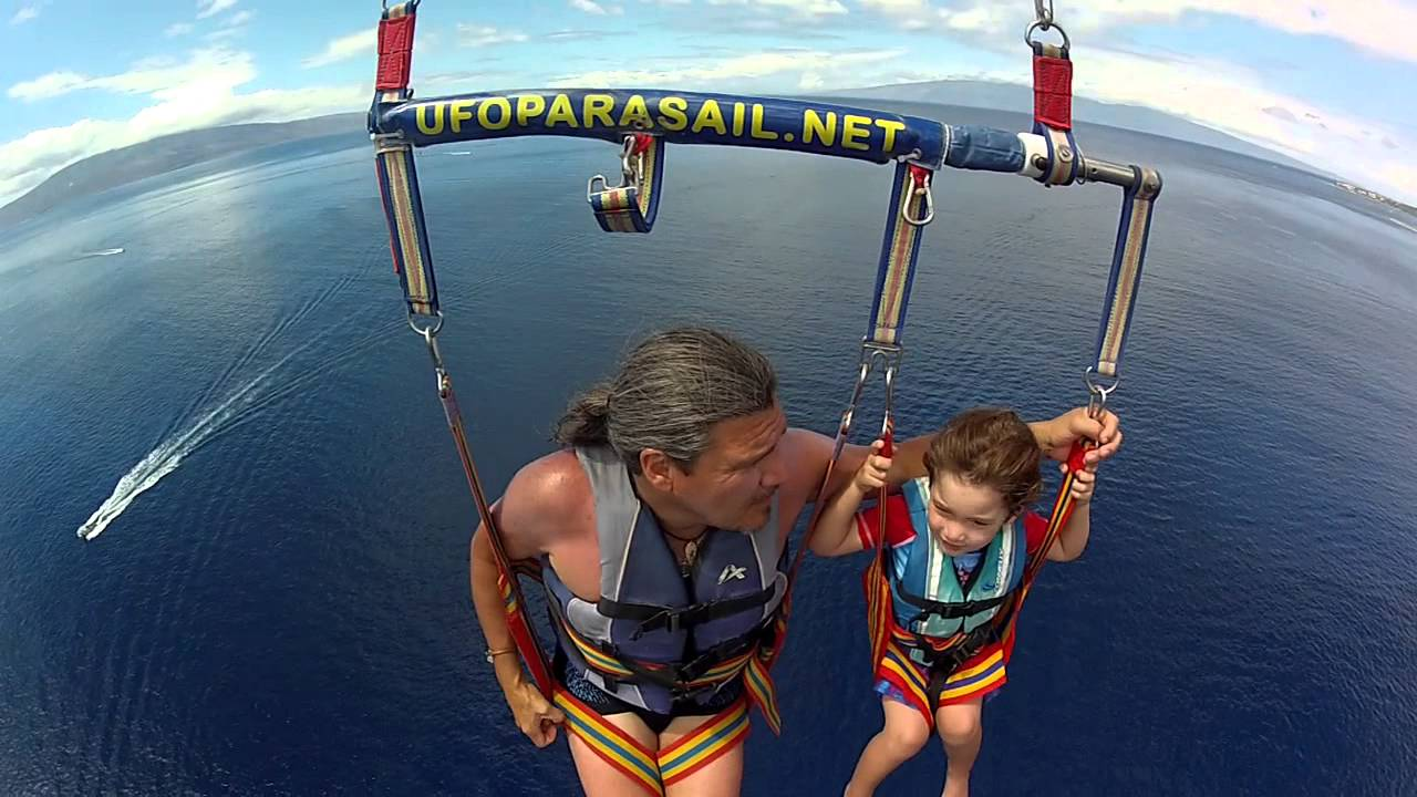 Another successful abduction by UFO Parasail Maui! - YouTube