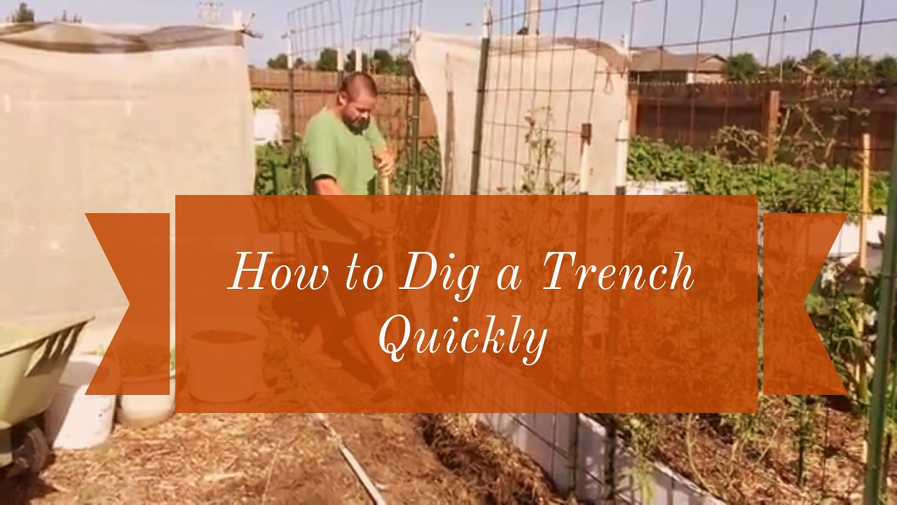 Quick Tip The Easiest Way To Dig A Trench By Hand Youtube