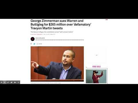 Judge Denies George Zimmerman's Defamation Case Against Warren and Buttigieg for $265 million