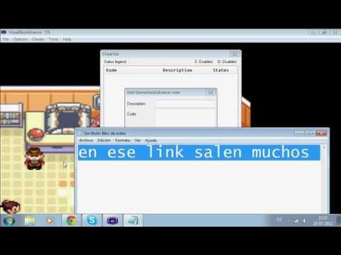 Como Usar Gamesharks En Visual Boy Advance (emulador Gba)