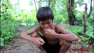 Primitive Technology - Eating delicious - Awesome cooking squid