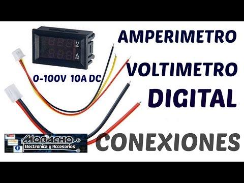 Como Conectar Correctamente Amperimetro-Voltimetro Digital