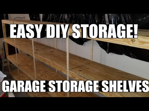 How to Build Garage Storage Shelves. CHEAP EASY FAST and STRONG DIY!!!