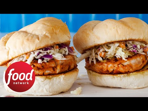 Rachael's BBQ Chicken Burgers How-To | Food Network